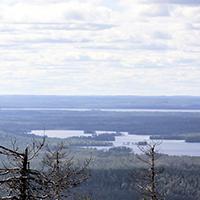 Вид на озеро Воттозеро с горы Воттоваара - панорама №1