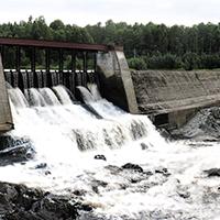 Игнойльская ГЭС-26 в малую воду