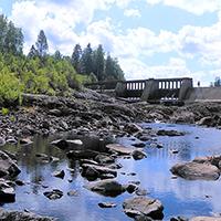 Дно Шуи под Игнойльской ГЭС