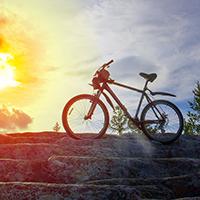 Велосипед на «Лестнице в небо»