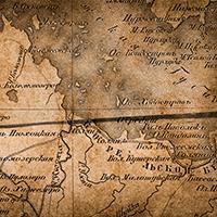 Фрагмент карты 1862 года района Белого моря,