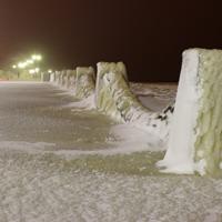 Цепное ограждение на набережной Петрозаводска - фото №1