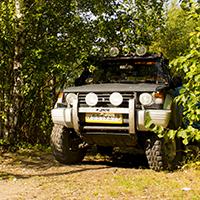 Джип в лесу