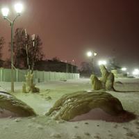 Аллея со скульптурами на набережной Петрозаводска - фото №1