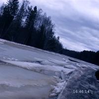 Ещё одна эпическая фотография ледового затора перед Кеняем