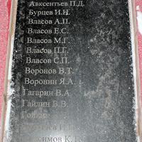 Мемориальная плита №2 в честь воинов-пряжинцев, погибших в боях