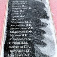 Мемориальная плита №4 в честь воинов-пряжинцев, погибших в боях